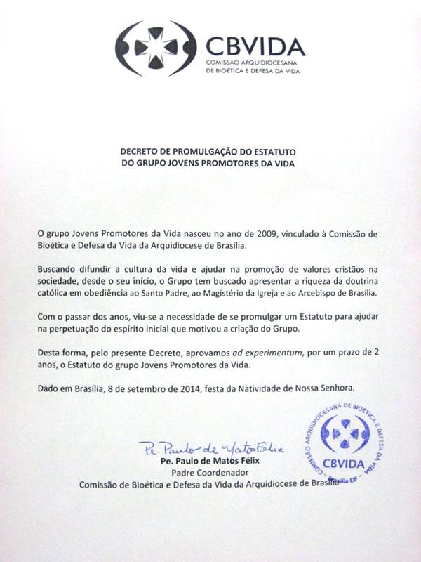 Decreto de promulgação