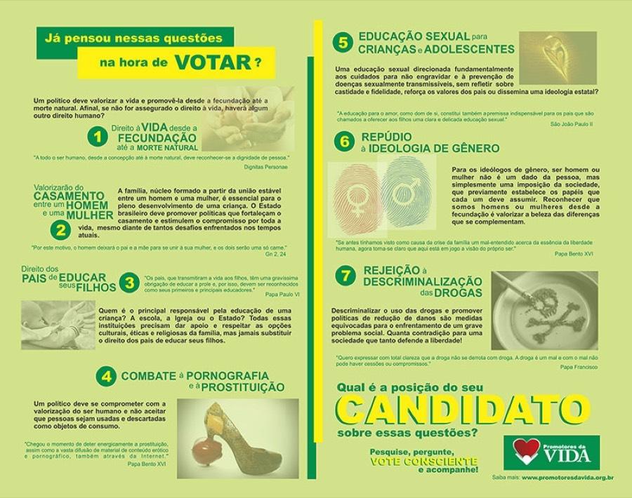 Promotores da Vida lançam Cartilha Jovem para as Eleições de 2014